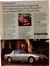 1980 Mazda RX-7 GS Classic Vintage Advertisement Ad D23 VS