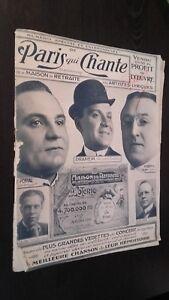Rivista Settimanale per Lettera Parigi Che Canta N° Speciale & Eccezionale 1908