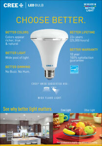 CREE-LED-Bulb-BR30-Flood-9W-Soft-White-2700k-Dimmable-Flood-LED-Spot-Lights