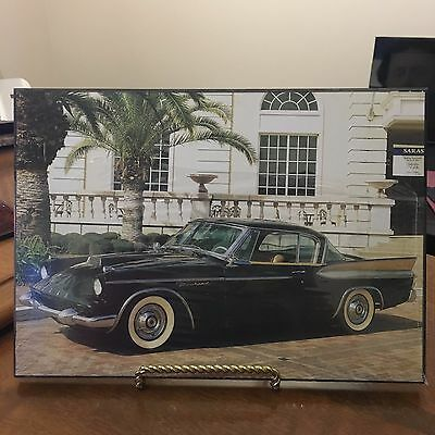 PACKARD CAR VINTAGE PICTURE LAMINATED ON WOOD  NEW SEALED