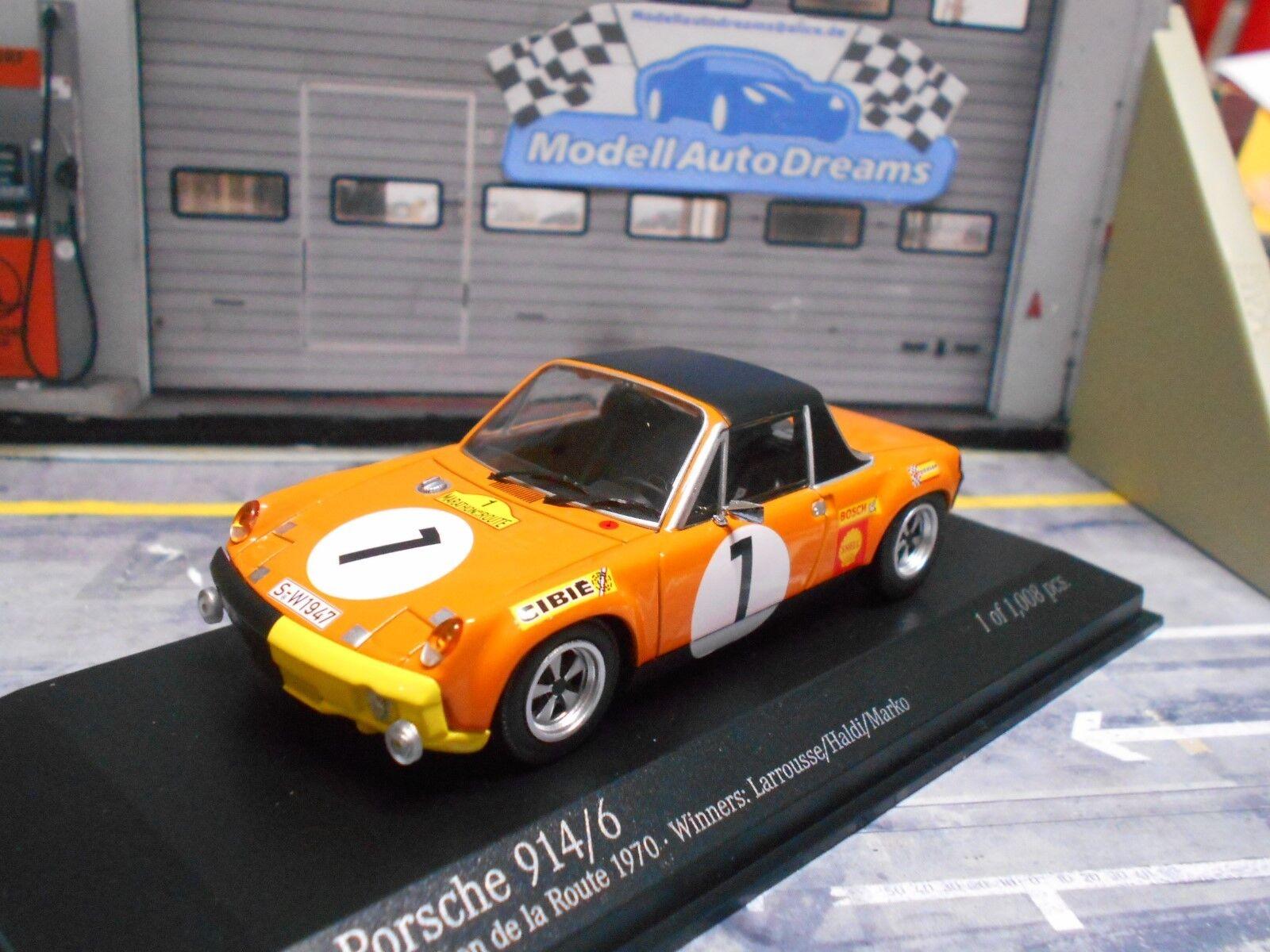 Porsche 914 6 914 6 Rallye  Marathon Route 1970  7 Larrousse HA MINICHAMPS 1 43  marque célèbre