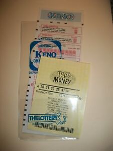 Details about LOTTERY TICKET HOLDER SLEEVE PROTECTOR ENVELOPE KENO OR  SPORTS BETTING NEW