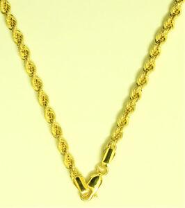 Dicke-Damen-amp-Herren-Kordel-Kette-Halskette-585-Gold-14-Kt-Gelbgold-Neu-50-cm