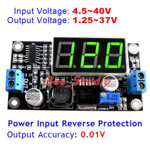 DC Buck Step-down Regulator 5V~40V To 9V 12V 24V 36V LED Voltmeter Power Supply