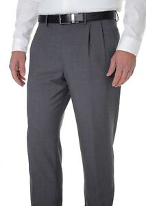 d0302325 Details about Club Room Classic Fit Solid Gray 100% Wool Pleated Cuffed  Dress Pants 30x30