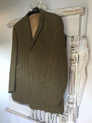 "Men's Vintage 'john Brocklehurst ""derby In Tweed Lana Jacket-taglia 44.-mostra Il Titolo Originale"