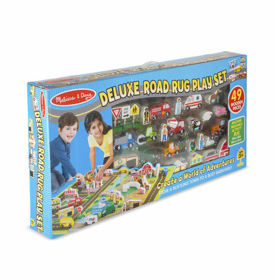 Melissa and Doug 15195 - Deluxe Road Rug Play Set - NEW