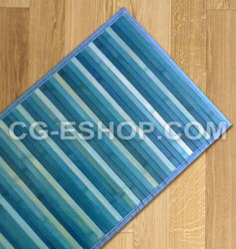 Tapis Bambou Nuancé Coureur Cuisine et But des Bandes cm 55x140 Bleu Turquoise