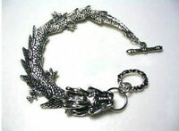 Men's pretty Tibetan Tibet Silver Bracelets dragon Bangle Bracelet