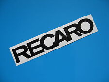 RECARO Decal Sticker 350Z M3 TT S4 GTI R32 Evo S15 x2
