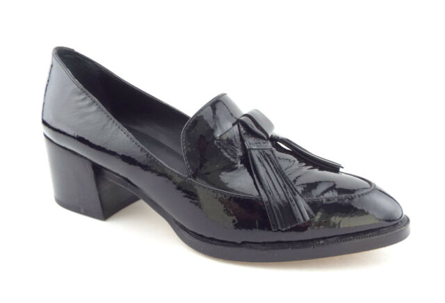 9ed3195f79c REBECCA MINKOFF Size 5.5 EDIE Black Patent Tassel Loafers Pumps Shoes 5 1 2