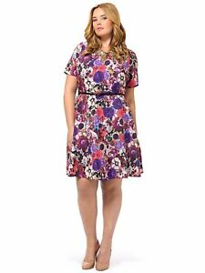 Spruce-and-Sage-Gwynnie-Bee-Baroque-Floral-Fit-amp-Flare-Woman-Plus-Size-10-HA13