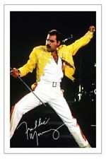 FREDDIE MERCURY SIGNED PHOTO PRINT AUTOGRAPH QUEEN BOHEMIAN RHAPSODY