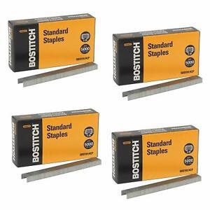 Stanley-Bostitch-Premium-Standard-Staples-1-4-Inch-Silver-5-000-Per-Box-4-Pack