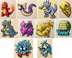 Details About Pokemon Firered Leafgreen Mini Bead Sprites Perler Hama Artkal Pixel Art Retro