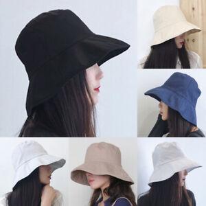 Men-Women-Fisherman-Solid-Cotton-Bucket-Hats-Fashion-Sunhat-Hunting-Outdoor-Caps