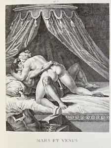 Agostino Carracci Erotico Pene atto vagina Marte Venere antica mitologia Roma Love