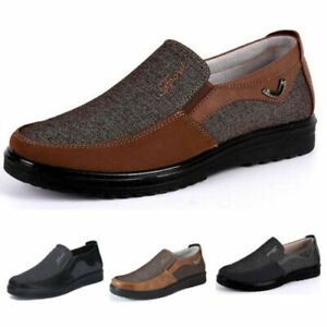 men old beijing style casual cloth shoes leather antiskid