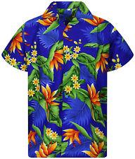 Funky Hawaiihemd Strelitzie Blau Hawaiian Shirt Kurzarm Hawaii