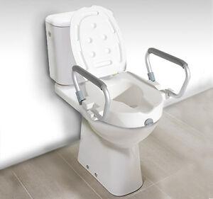 Homcom Portable Raised Toilet Seat Padded Lock Lid