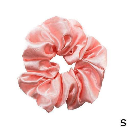 Women Silky Satin Hair Scrunchies Elastic Hair Bands Rope Ponytail Tie HOT B0M1