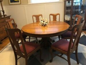 Antique Dining Table With 12 Chairs Ebay