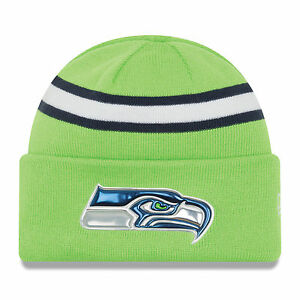 e3d777479 New Era NFL Beanie Seattle Seahawks Color Rush On Field Cuffed Knit ...