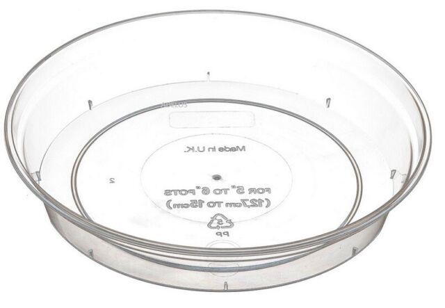 """Stewart Garden Orchid Plant Pot Saucer - Clear - For 11cm/5"""" - 15cm/6"""" Pots"""