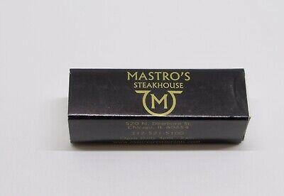 zuverlässige Leistung innovatives Design Infos für Mastro's Steakhouse Matchbook Chicago, IL 520 N. Dearborn Street ...