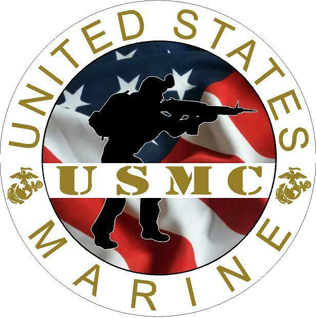 Marine Corp Navy Parachutist Wings Jump Wings Vinyl Decal Sticker