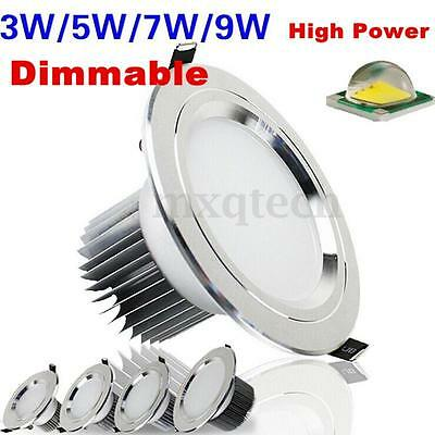 3/7/9/12/15W Modern LED Panel Dimmable Ceiling Recessed Down Light Lamp Fixture