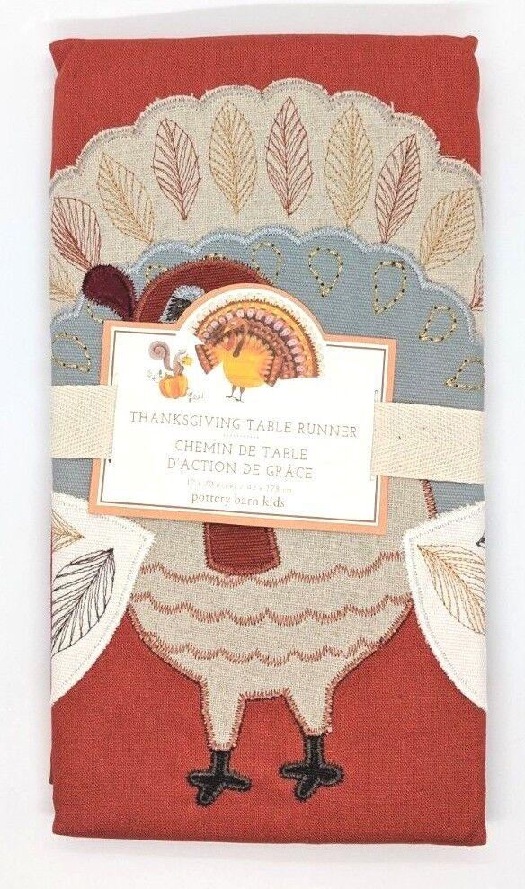 POTTERY BARN Kids  Thanksgiving Table Runner  17  Large X 70  long