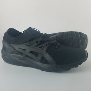 newest 6b432 44473 Details about Asics Gel-Kayano Knit Low Running Shoes Men's Size 11 Triple  Black H705N