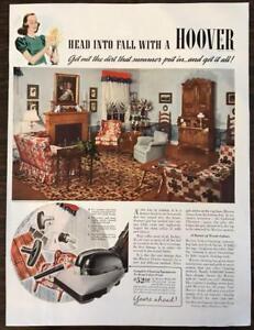 ORIGINAL-1940-Hoover-Vacuum-Print-Ad-Model-305
