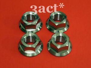 10 pcs Titanium Ti M6 x 1.0mm Pitch Sprocket Flange Bolt Nut