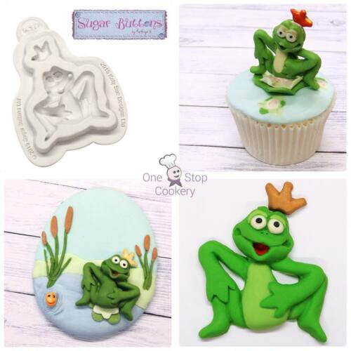 Katy Sue Sugar Buttons FROG PRINCE Cake Decorating Silicone Mould Art /& Craft