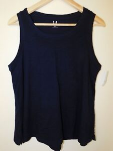 NWT-Gap-Women-039-s-Easy-Swing-Navy-Blue-Tank-Top-Round-Hem-Sizes-XS-amp-S-New
