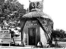 """Hoot Hoot I Scream"" Ice Cream Stand, Los Angeles, CA 1930s Historic Photo Print"