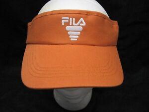 New-Fila-Brand-Orange-ADULT-SUN-VISOR-Adjustable-Snapback-Sports-GOLF-TENNIS