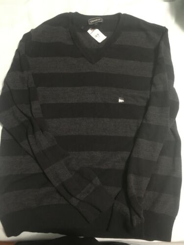 And Grey Express Black Sweater Large OtnaS