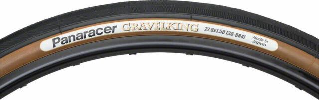 Folding Tubeless 650 x 48 Black//Brown Panaracer GravelKing SS Tire