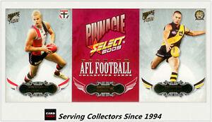 2009-Select-AFL-Pinnacle-Trading-Cards-Base-Card-Full-Set-195