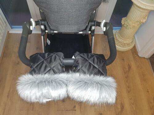 Bebé Cochecito mano Mitones Stokke kit de invierno con piel Calentador Muff Cochecito Guantes