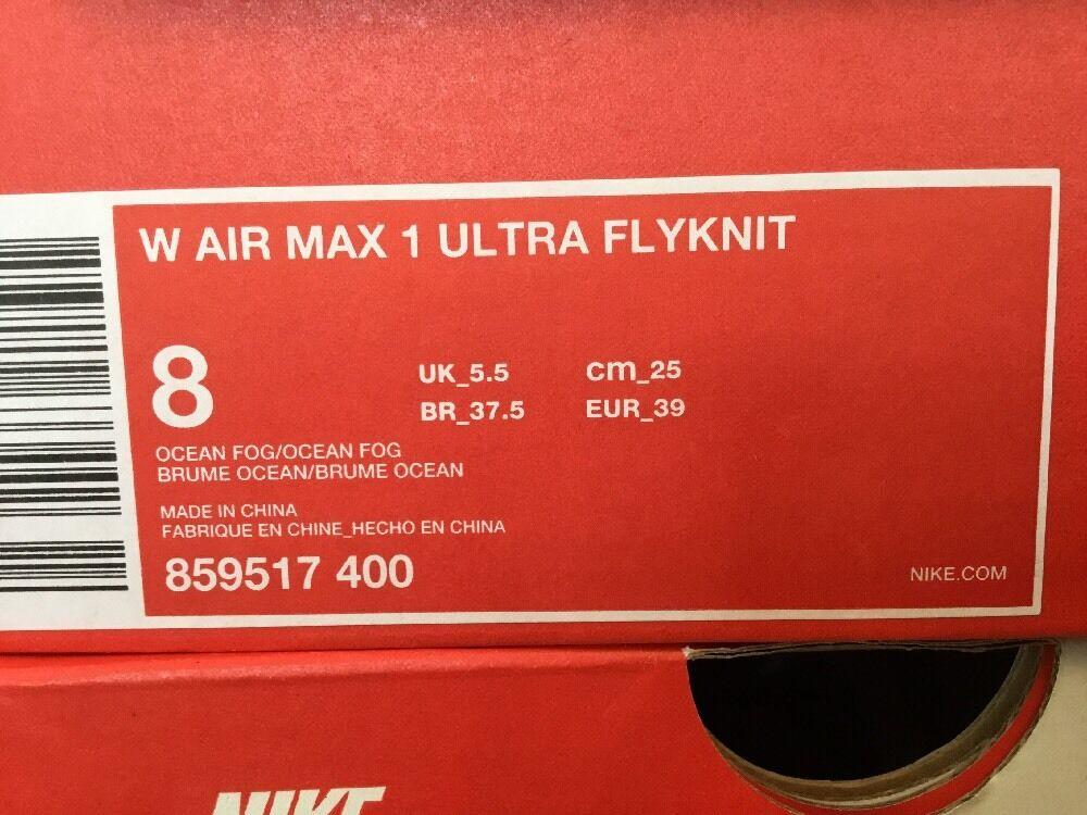 Nike Air Max 859517 1 Ultra Flyknit  859517 Max 400  U.K. Größe 5.5  Euro 39 1a955b