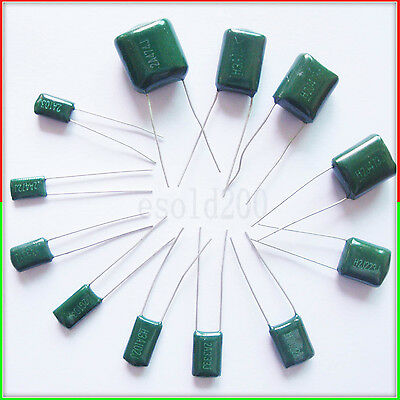 FREE SHIPPING 10 x 3.9nF 0.0039uF 100V 5/% Polyester Film Box Type Capacitor