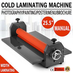 25.5In 650MM Manual Cold Roll Laminator Vinyl Photo Film Laminating Machine