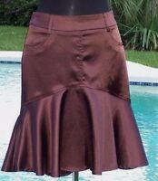 Cache Luxe $138 Tulip Metallic Sheen Event Skirt S/m/l/xl Day Office