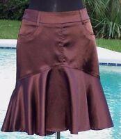 Cache Luxe $138 Tulip Metallic Sheen Event Skirt S/m/l/xl Day Office