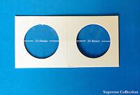 100 Pcs Coin Holders 2 X 2 Cardboard Mylar Flips Diameter 33mm