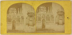 Canterbury-Cattedrale-UK-Foto-Stereo-PL55L3n-Vintage-Albumina-c1870
